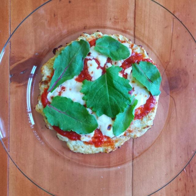 Pan-Fried Cauliflower Pizza Crust